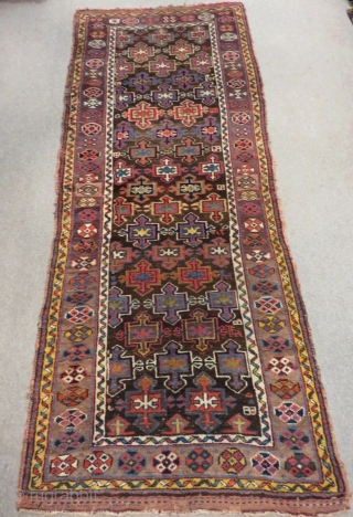 Antique Persian Kurdish Rug Circa 1880.90 Size.250x100 Cm