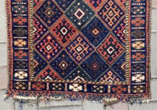 Antique Persian Jaff Bagface Size.63x60 Cm