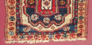 Antique Shahsaven Bagface All Colours Natural Size.45x38 Cm