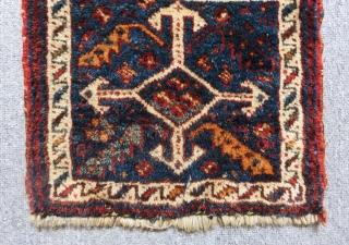 Antique Persian Kürdish Small Bagface Size.34x26 Cm