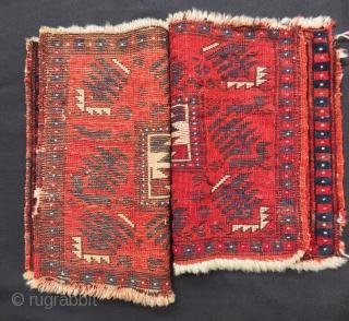 Second 19th C West Anatolian Bag face Two pieces Size.41x35 Cm 41x33 Cm