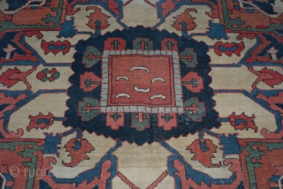 Heriz circa 1890  11'x 13'