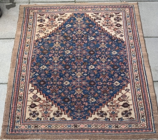 """Bakshaish - late 19th Century Measuring 4'5"""" x 3'10"""" Overal good condition for the age  This little gem came from a Canadian collector in Vancouver"""
