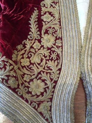 19th century Ottoman embroidered jacket on velvet  -  very good condition