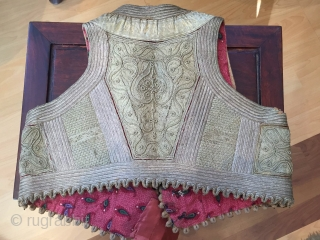 19th century Ottoman embroidered vest - excellent condition