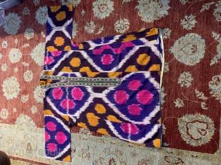 An old uzbeknikat chapan..... unusual pattern and vivid colors