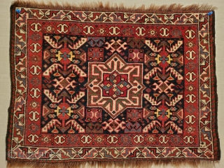Khamseh bagface ca.1880. Earlier high quality wool dyes and weave . Nice piece