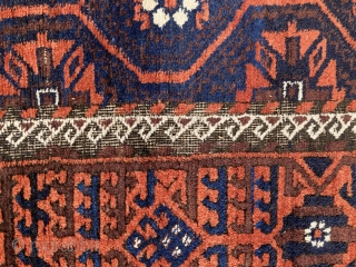180 x 104 cm // antique baluch with mina khani design, for more pictures please contact me