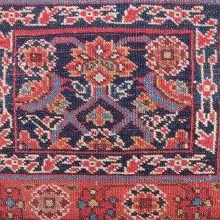 """A beautiful Kurdish bag face, 24"""" x 19""""  61cm. x 48cm., with excellent condition, wool and an array of lovely natural colors. Another example of the creativity of the Kurds in  ..."""