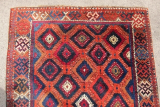 """Late 19th C. E. Anatolian, Sivas area rug, 4'4"""" x 6'5"""" in the so-called """"Baklava"""" design.  In near mint condition with full pile and rich natural colors."""