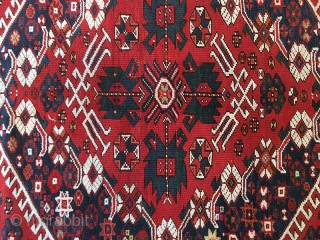 The fine wool-on-wool Turkish Rugs woven in Bergama used only the finest quality fleece. Kazak-influenced Bergama carpet is often identified by their distinctive red wefts. Their varied styles include compartmental medallions, directional  ...