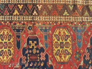 "A genuine antique Caucasian kuba Soumak/Sumac. Is in excellent condition, measures 5'-6"" x 8'."