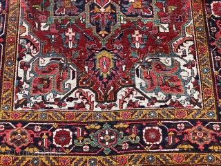 """Antique Heriz, Rare Size 3'-11"""" x 5'-7"""". Is in good condition, ends & Edges need some attention."""