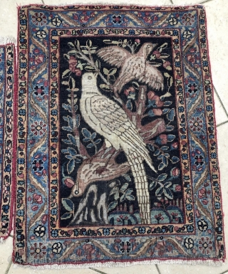2 x Kirman Kerman Poshti 1860-80  44x47  46x60