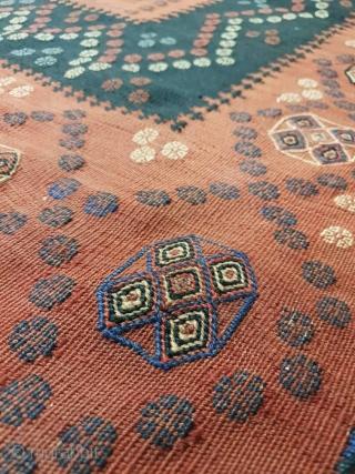 Intricate afshar sofreh , circa 1930 150 * 150 cm