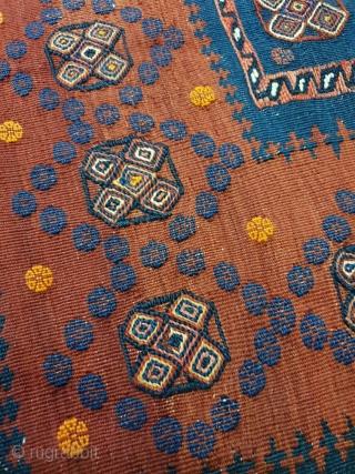 Intricate fine afshar sofreh , rare piece  Circa 1950 , 150*145 cm