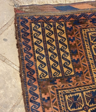 Balouch prayer rug almost in a good condition,circa 1900