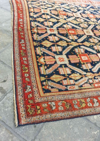 Sanandaj rug  I'm of the opinion that the pattern of this velvet like Kurdish rug is originated from Herati fish pattern , although the structure looks like Zeichur rugs of Caucasus.  Background of  ...