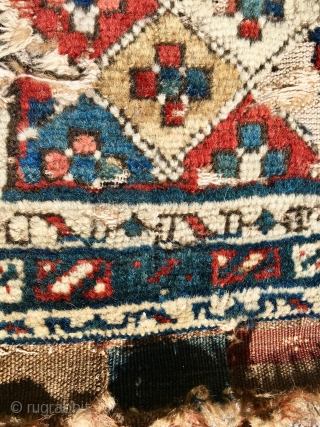 Caucasian C19th bag face 55*52 centimetres