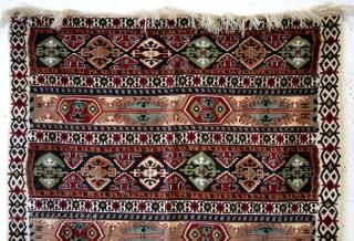 Syria, Aleppo, fine kilim, early 20th century.  160 x 106 Cm's.