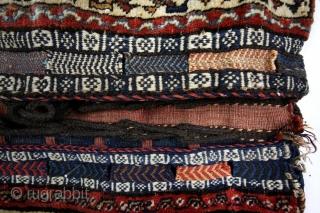 complete dubbel bag of the Qashqai nomads.  Fine condition, natural colors.  100 x 48 Cm's.