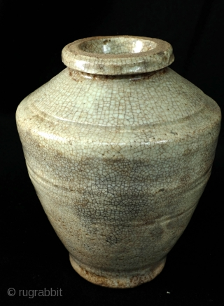 Ming jar, 17th century.  often called gun powder jar, but they are urns.  Ming dynasty, 1368 - 1644.