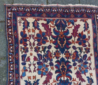 Afshar small rug, great gem, 121 x 89 cm., ca.1900. Woolen weft and warp, no repairs, all natural dyes. Last two pictures in full sunlight.