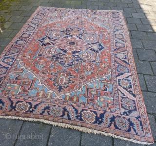 """Small Heriz rug 298  x 208 cm., 9' 9"""" x 6' 10""""."""