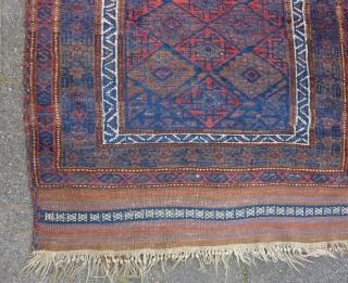 Baluch prayer rug, 138  x 92 cm., good pile, all natural dyes, no repairs.