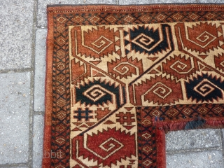 """Ersari Kapunuk, 97 x 43 x 145 cm, 38"""" x 17"""" x 57"""". Full pile, with one slightly lower area ( pict.2). Two small repairs at both inside corners. Natural dyes, and also  ..."""