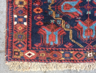Afshar bag front, 52 x 81 cm. knotted on wool. Good pile, no repairs, all natural dyes.