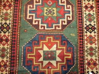 #7198 Kazak Antique Caucasian Rug 4'2″ X 8'5″ $9,000.00 Size: 4'2″ X 8'5″  (128 x 259 cm)  Age: 3rd  quarter 19th century https://antiqueorientalrugs.com/product/7198-kazak-antique-caucasian-rug/