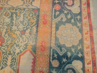 """#7397 Hereke Antique Turkish Rug  This circa 1850 Hereke antique Oriental carpet measures 6'1"""" X 9'11"""" (185 x 303cm). This is the finest woven wool rug I have ever seen. It is 10×11  ..."""