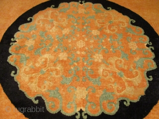 """Fette Art Deco Chinese Rug 8'11"""" x 11'8"""" #7868 This circa 1930 Fette Chinese Art Deco rug measures 8'11"""" x 11'8"""". This rug is very soothing with a field color of pale  ..."""