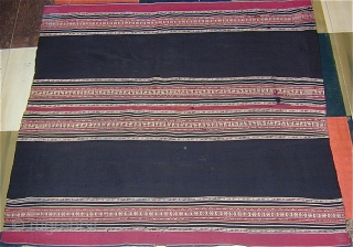 South American Shawl, 19th. Cent.,  Natural colors, 45'' X 42''.Click to see full image of piece.