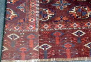 Early Yomud Chuval with monumental skirt, 45'' X 32''.