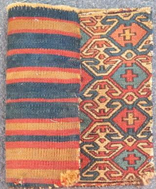 "Sumak Chanteh with natural colors and rare design, 19th. century, 15'' X 11"" (38 X 28cms)"