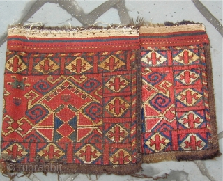 Archaic Uzbek trapping with original side finishes, kelim top and bottom, 19th century, excellent condition, 43'' X 18'' (108 X 46cm)