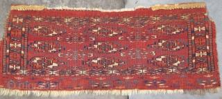 Finely woven Tekke Mafrash with rare bird elem, 19th. century, 27'' X 10''(68 X 26cm)