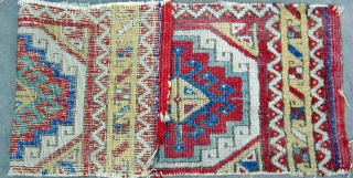 Early Anatolian Yastik Fragment with original selveges. 22''X 8''