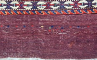 Rare early 19th. century Karadashli Chuval with wefting comprised of fine cotton and wool showing a pepper and salt back, very finely woven, excellent condition, 45'' X 30''(115 X 77cm)
