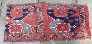 Very large Ersari Jollar with extraordinary color, early 19th. century, 57'' X 16''(145 X 41cm)