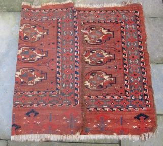 Finely woven Yomud Chuval with wonderful Elem, 19th. century