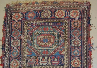 Rare Sumak Bag-Face with supplemental weft-float embroidery,early 19th. century, 27''X 25''.