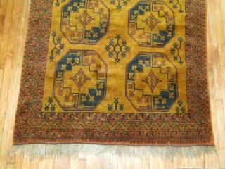 Antique Golden Yellow Ground Ersari.  4'11''x6'3''.  Excellent condition.