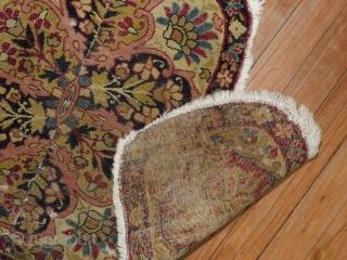Antique Lavar Kerman 1'10''x3' Saddle Bag?  Fragmented..