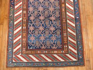 Antique Kurdish 4'x8'8'' Dated. excellent untouched condition.