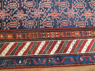Antique Kurdish 4'x8'8'' Dated. excellent untouched condition.