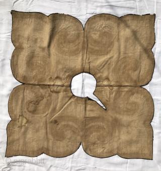 Tibetan Lamas ritual collar with 19thC Chinese silks
