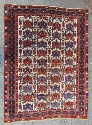 Antique Avshar rug wool and wool wonderful colors and excellent condition all original size 2,00x1,48 cm Circa 1900-1910